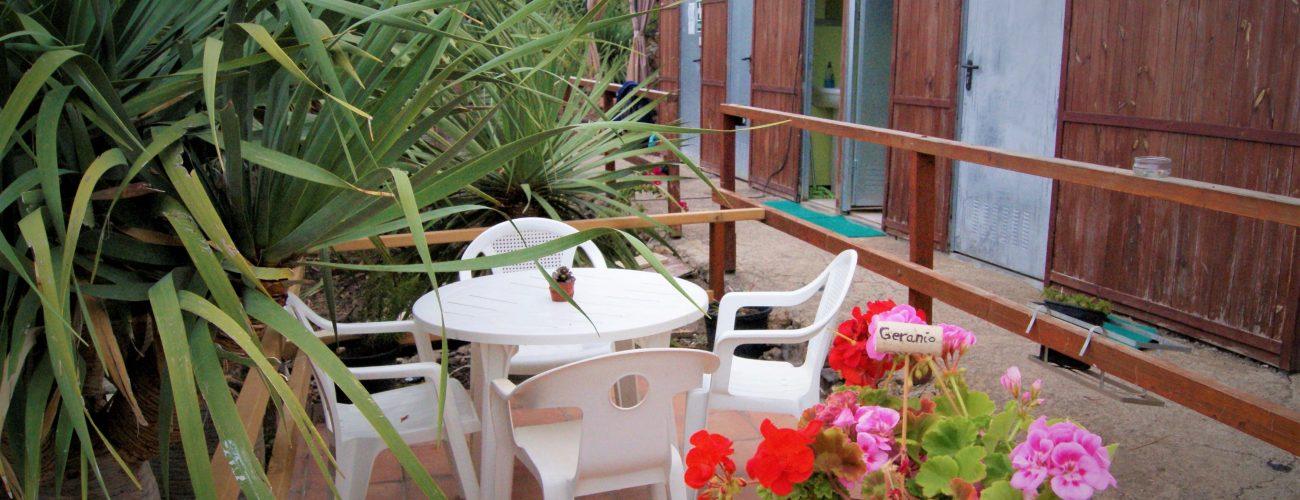 Preciosa terraza en la cocina